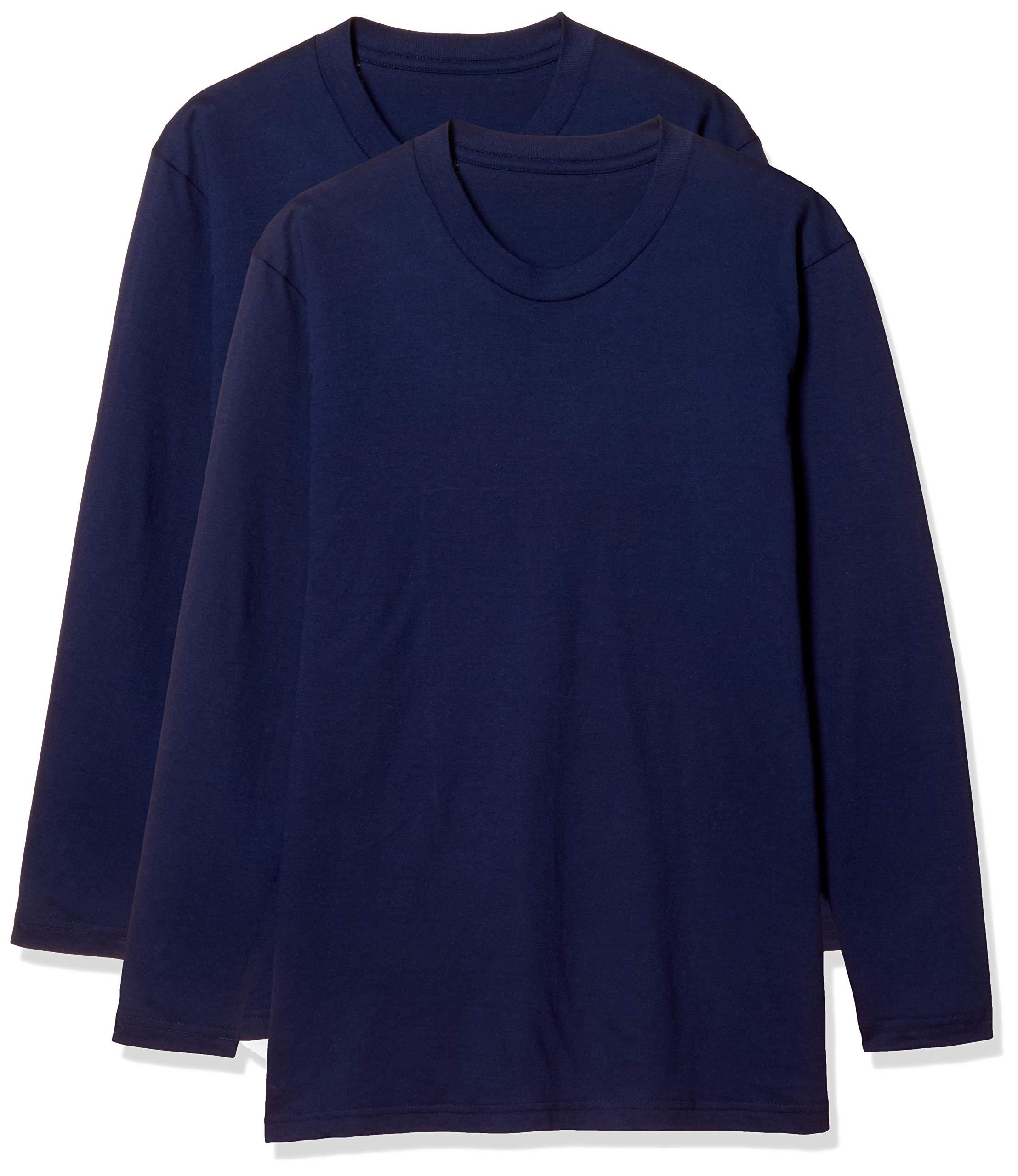 [Seshiel(グンゼ)GUNZE長ズボン柔らかい綿の下着は、*** ***フロントホックは、消臭プロセス2を意味し、 ]男性の綿の長袖Tシャツ(同じ色の二組)腋窩シンプルなシームレスKP-753