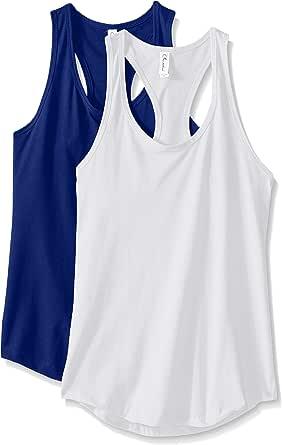 Clementine Apparel 2 件装女式运动服跑步锻炼棉混纺服装  皇家蓝/白色 Large