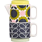 Orla Kiely OK616 茶叶 适用于一只小牛花森林茶壶 陶瓷