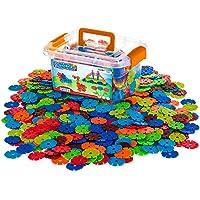 Creative Kids Flakes - 600 块联锁塑料碟片套装充满乐趣,创意积木 - Educational STEM 建筑玩具男女通用 - *,适合 3 岁及以上儿童(浴缸颜色可能不同)