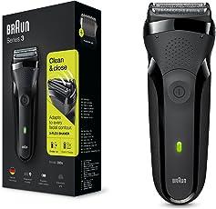 Braun 博朗 3系 300s 男士充电电动剃须刀 黑色