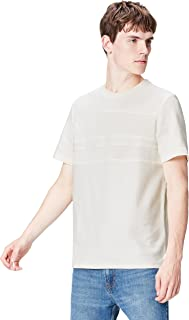 FIND 男式 T 恤带纹理面料和胸板
