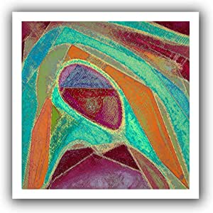 ArtWall Dean Uhlinger 'Dirty Geometry' Unwrapped Flat Canvas Artwork, 18 by 18-Inch, Holds 14 by 14-Inch Image