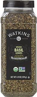 Watkins Gourmet Spice, Organic Basil, 4.9 oz. Bottle (21819)
