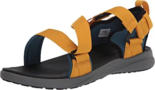 Columbia 男士凉鞋深蓝色/金黄色,12 常规美国尺码