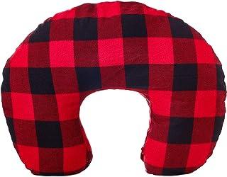 Org Store 高级哺乳枕套 | 哺乳枕套 | 适合大多数Boppy 枕(婴儿) 红色水牛格纹