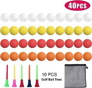 Bac-kitchen 40 个装泡沫高尔夫练习球 - 逼真的感觉和限量飞行训练球适合室内或室外
