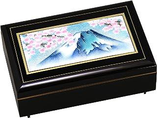 彩光舍 摆件 12.5×19.5×7厘米 彩光舍 七宝烧 长角收纳盒 富士樱 120-04