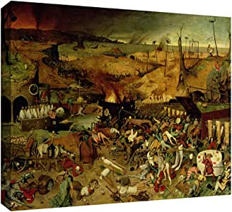 ArtWall Pieter Bruegel 'The Triumph of Death' Gallery Wrapped Canvas Art, 24 by 32-Inch