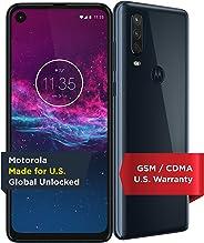 Moto One Action - 解锁智能手机 - 全球版 - 128GB - 牛仔布(美国保修) - Verizon、AT&T、T-Mobile、Sprint、Boost、Cricket、Metro