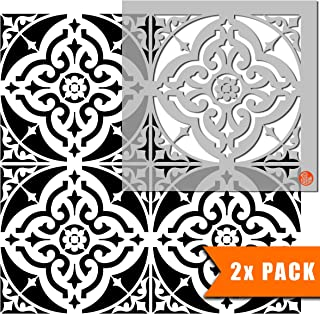 Turin 瓷砖模板用于墙壁和地板涂漆 | 可定制尺寸 16 inches