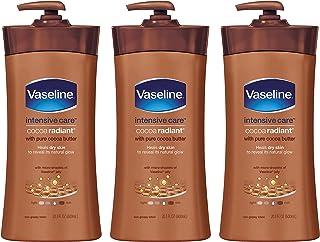 Vaseline 凡士林  身体护理乳液,可可Radiant,20.3液体盎司/600ml(3件)