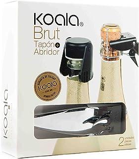 Koala Set 香槟色 - 棕褐色和黑色香槟塞