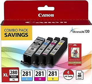 Canon PGI-280 XL / CLI-281 4 色套装 适用于 Pixma 喷墨打印机