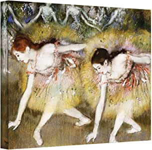 Art Wall 'Dancers Bending Down' Gallery-Wrapped Canvas Artwork by Edgar Degas, 18 by 24-Inch