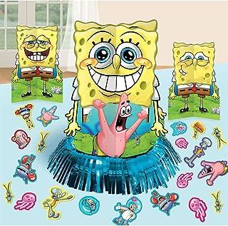 SpongeBob SquarePants 派对桌装饰套件(中心装饰套件)23 件 - 儿童生日和派对用品装饰