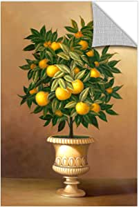 "Welby ""盆栽橙树""画廊包边帆布,30.48 x 45.72 cm"