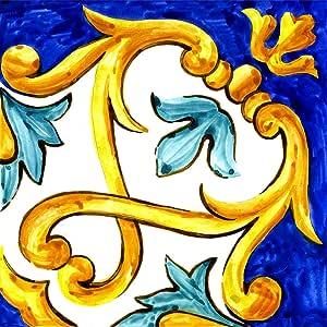 Poromoro 西班牙葡萄牙阿库利霍风格即剥即贴瓷砖贴纸一套 16 件 45.72 厘米 3.9