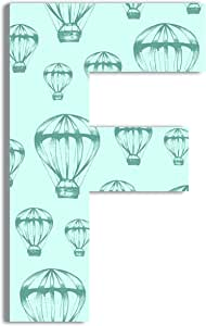 Stupell 家居装饰热气球 45.72 cm 超大悬挂首字母 Blue/F 12 x .5 x 18 ohi-134-f