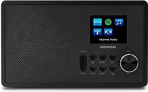 Medion MD 87528 WLAN Internet - 收音机 FM 收音机 (RDS, 声破天, USB, AUX IN, DLNA, upnp) 白色