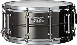 Pearl STA1465BR 14 x 6.5 英寸 Sensitone Snare Drum - 黄铜饰珠 黑色 镍