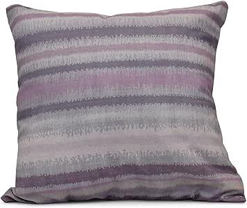 "E by Design Raya De Agua 条纹印花枕头 紫色(Lavender) 26"" x 26"" PS775PU14-26"