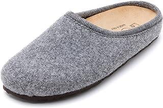 Le Clare Nebraska 男士羊毛毡木底拖鞋