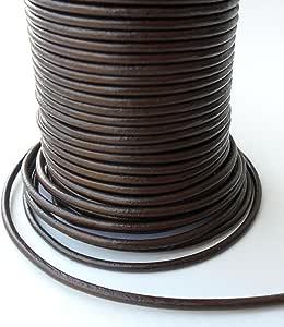 Auroris - 100 米卷皮绳圆形 - Ø 1.5 毫米 - 棕色