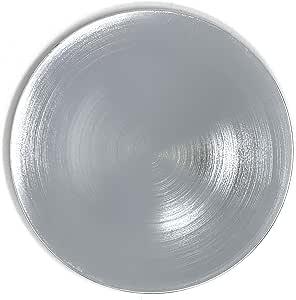 Allgala 13 英寸 6 件装圆形充电板 拉丝银
