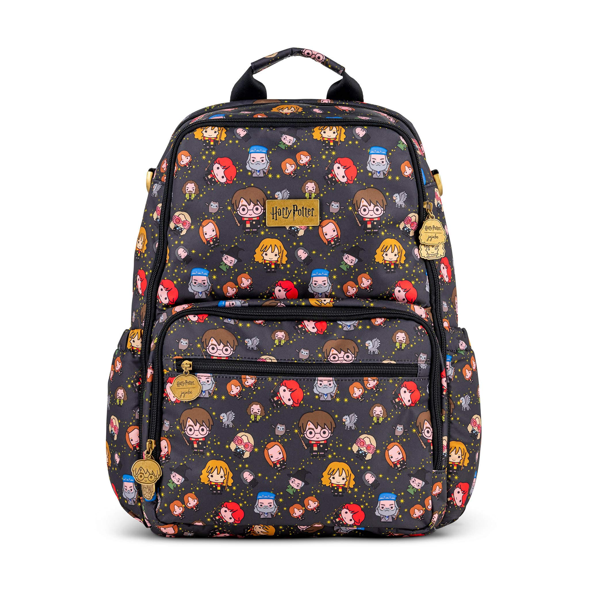 JuJuJuBe x 哈利波特新西兰背包  轻质、方便旅行、时尚尿布袋、儿童及成人多功能背包钱包、休闲小背包  包括尿布更换垫 快干挂件
