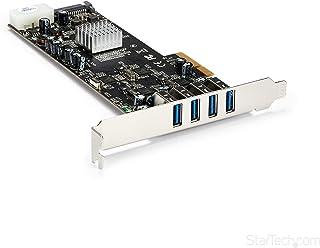 StarTech.com 带4个5Gbps通道的4端口USB 3.0 PCIe卡(USB 3.1 Gen 1)-UASP-SATA / LP4电源-PCI Express适配器卡(PEXUSB3S44V)