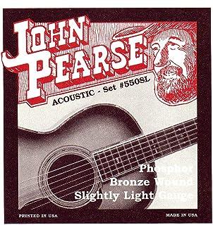 John Pearse 原声吉他弦 磷铜 轻微轻