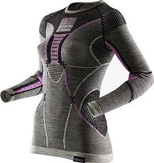 X-Bionic Women's Apani Merino by Xlady UW LG SL Roundneck Women Underwear, Womens, APANI MERINO BY X-BIONIC LADY UW SHIRT ...