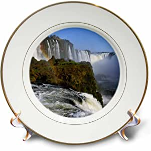 3dRose cp_45900_1 Iguassu Falls, Foz Do Iguacu, Parana, Brazil-Porcelain Plate, 8-Inch