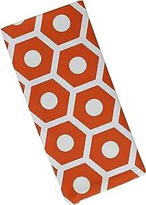 """E By Design 几何装饰餐巾纸 橙色 19""""x 19"""" N4GN36O1"""