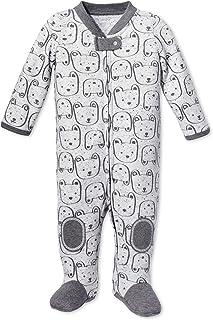 Lamaze *婴儿* N Play 拉链闭合连脚睡衣,灰色,早产儿