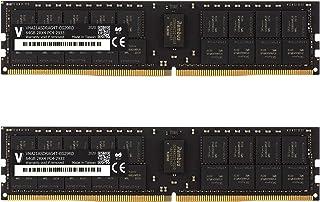 v-Color 128GB (2 x 64GB) 服务器内存 RAM 模块适用于 Apple Mac Pro 2019 * DDR4 2933MHz (PC3-23400) ECC 注册 DIMM 双列1.2V CL21 2Rx4 (VHA21...