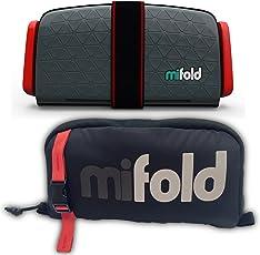 mifold Grab-and-Go 安全座椅增高垫 带收纳包,蓝/灰