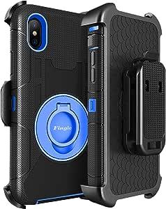 "iPhone Xs Max**钱包式手机壳 iPhone Xs Max,闪光翻盖 PU 皮革信用卡包现金袋腕带保护手机保护套适用于苹果 iPhone Xs Max 2018 6.5"" 蓝色"