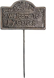 Garden Marker Welcome To My Garden 古铜色