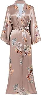 BABEYOND 花卉和服浴袍缎丝绸婚礼长袍 1920 年代和服睡衣 134.62 厘米长