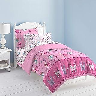 Dream FACTORY 魔法公主超柔软超细纤维被子套装,单人床,水蓝色或粉色 粉红色 两个 2A746301MU