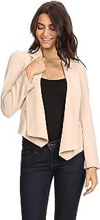Alexander + David 女士开办办公室运动夹克 - 合身编织外套贴边口袋