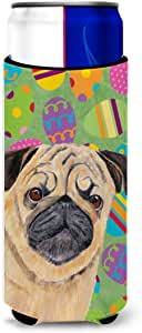 Pug Easter Eggtravaganza Michelob Ultra Koozies for slim cans SC9451MUK 多色 Slim
