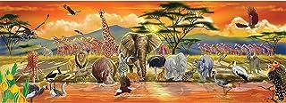Melissa & Doug 非洲平原野生動物巨型地板拼圖,100片,超過4英尺(約1.2米)長