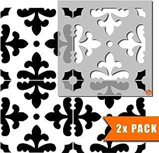 佛罗伦萨瓷砖家具墙壁地板瓷砖绘画模板 | 可定制尺寸 6 inches