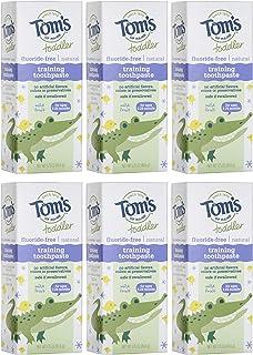 Tom's of Maine 幼儿无氟天然牙膏,温和水果凝胶,50g x 6支装