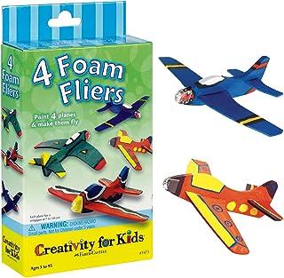 Creativity for Kids 4 个泡沫翼迷你工艺套件 - 油漆 4 个泡沫飞机。