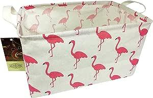 HUNRUNG 长方形储物篮可爱帆布收纳箱适用于宠物/儿童玩具、书籍、衣服 - 非常适合儿童房/游乐室/货架