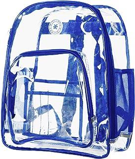 耐用透明双肩透明聚氯乙烯体育场*透明工作袋 Clear/Royal Trim One_Size